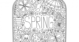 Page de coloriage Spring in a Jar • eBook imprimable GRATUIT