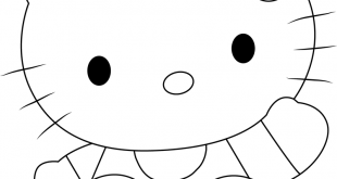Lovely Hello Kitty Coloring Page - Free Hello Kitty Coloring Pages