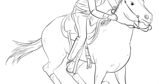 How to draw cowgirl on a horse | Step by step Drawing tutorials