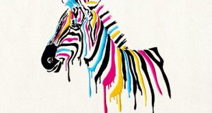 Majestic Color Dripping Horse Embroidery Design - DigitEMB
