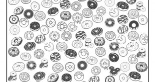 Free Printable I Spy Doughnuts Activity - Paper Trail Design