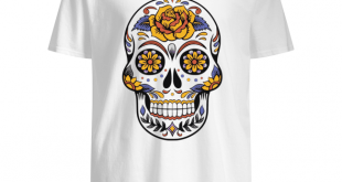 Chemise Sugar Skull Flower Day Of Dead Dia De Los Muertos
