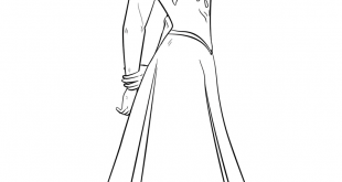Anna from the Frozen Movie coloring page | Free Printable Coloring Pages
