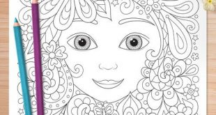 Enchanted Faces Coloring Pages - Pages à colorier féminines imprimables pour adultes, adolescents et enfants - Art is Fun