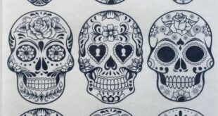 Skulls Edible Wafer Paper/Day of the Dead Skulls Paint Your Own/PYO